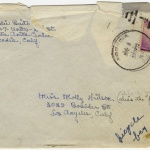Letter (with envelope) to Molly Wilson from Sandie Saito (July 8, 1942)