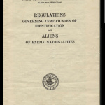 Regulations governing certificates of identification for aliens of enemy nationalities, Form AR-AE-25