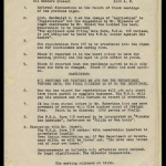 Minutes from the Heart Mountain Block Chairmen meeting, February 16, 1943