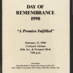 Day of remembrance 1990: a promise fulfilled