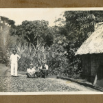 Japanese Peruvian workers and house