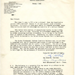 Letter to Dear Friend from the Gordon Hirabayashi Defense Committee, January 1943