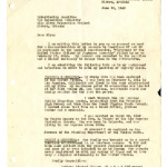 Letter from Fumio Fred Takano to Interviewing Committee, War Relocation Authority, Gila River Relocation Project, June 23, 1943