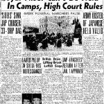 Loyal Nisei Can't Be Held In Camps, High Court Rules. Army Ouster of Japanse Held Valid (December 18, 1944)