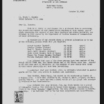 Letter from Raymond R. Best, Project Director, Tule Lake Project, to Lt. Frank S. Okusako, October 19, 1945