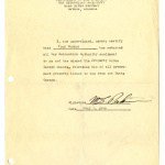 Notice from Gila River Project, War Relocation Authority, United States Department of Interior, July 7, 1945