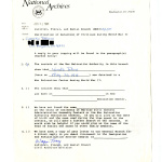 Letter from Wayne Tracy, Judicial, Fiscal, and Social Branch Civil Archives Division, National Archives and Records Administration to Yoneko Takano, June 22, 1988