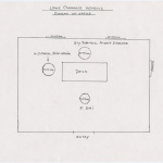 Sketch of room for Frank Emi's hearing for leave clearance