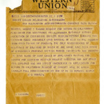 Telegram from G. Arnold to Robert Cullum, Relocation Supervisor, War Relocation Authority, August 5, 1944