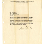 Letter from Fred C. Bold, Assistant Manager, Los Angeles Branch, Federal Reserve Bank of San Francisco, to Mr. Fumio Takano, April 15, 1942