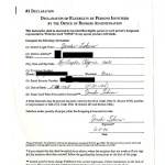 Declaration: declaration of eligibility by persons identified by the Office of Redress Administration